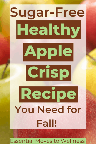 Make healthy apple crisp that's also guilt-free. The perfect fall dessert! Learn about the secret ingredient that makes an easy, tasty, and healthy batch of apple crisp! #healthyfood #fallrecipe #healthyliving #sugarfree