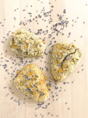 healthy lavender scones